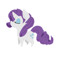 Chibi Rarity by alinoravanity