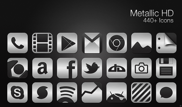 Metallic HD - Icon Pack by chrisbanks2