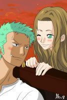 Zoro x Nicole Little Love by OpSayu