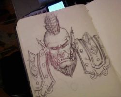 Orc Moleskine doodle by Electricalivia