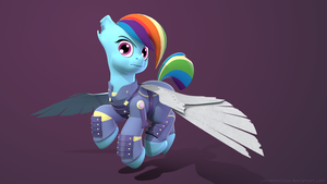 3D Crystal War Rainbow Dash (Render) - Variant 3 by ChronoTrickle