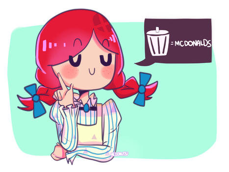 You're trash, Ronald by nedonutsu