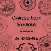 Chinese Luck Symbols by rL-Brushes