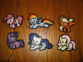 MLP Sprite Magnets - Mane Six by UWorlds