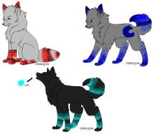 Striped Wolves Adopties :OPEN: by KenshiTora