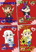 Valentine's Card With The Unnaturals! by WonderTroll