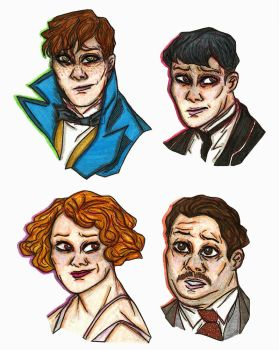 Fantastic Beasts Doodles by NOTEBLUE13