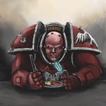 Space Marine Dining by Crowsrock