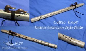 Celtic Knotwork Flute by 5Happy5