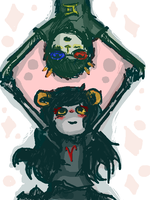 Sollux and Aradia by AgentCorrina