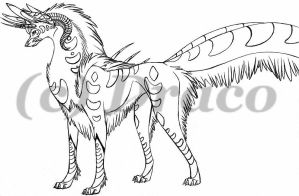 Mystic Creature by DracoFeathers