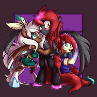 MLP Anthro Commission ZanonShadowVeil by BlueKazenate