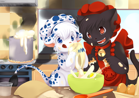 cooking with Nir and Salem by Ende26