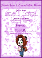 PandaJenn's Commission Menu by Kiss-the-Iconist