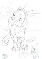New dragon sketch by Sekine