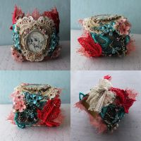 Assemblage Art Cuff by asunder