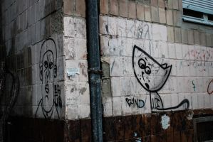 Cat on the wall by LifeFun