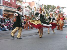 Dancing Carollers by disneyland-stock