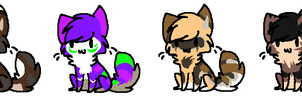 Chibi Feline Adoptables by Adoptions-Shop