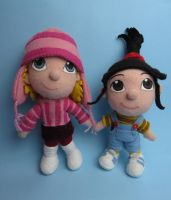Agnes and Edith (Despicable me) plushies by tstelles
