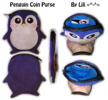 Penguin Coin Purse by LiliNeko