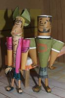 Geoff and DJ from Total Drama in papercraft by ViluVector