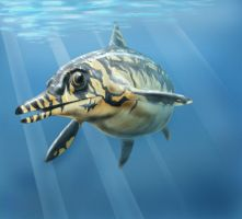 Ophthalmosaurus by Amadare90