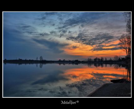 Sunrise at the lake 3 by MetalGeri