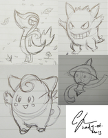 Pokedoodles by Lady-Of-Mars