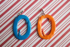 polymer clay portal best friend charms by l337Jacqui