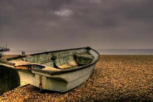 Boat in a Storm 2 by lorni3