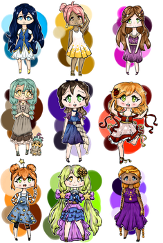 Moonlight Mixer Chibis by NightbloomOwl