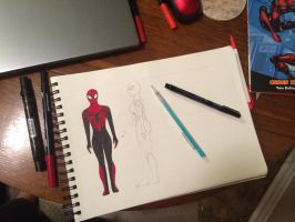 Spidergirl (May Parker) Costume Design WIP by Tsimmu
