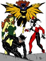 Batgirl And Company By Dogsupreme by Kenkira