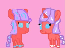 Foals Red and Cherry Spice Adopt from glitterquark by rockythebunny13