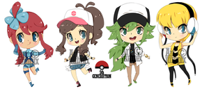 chibis : Pokemon 5th gen by Jumpix