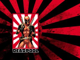 Deadpool Rising Sun.Wallpaper. by MarteGracia