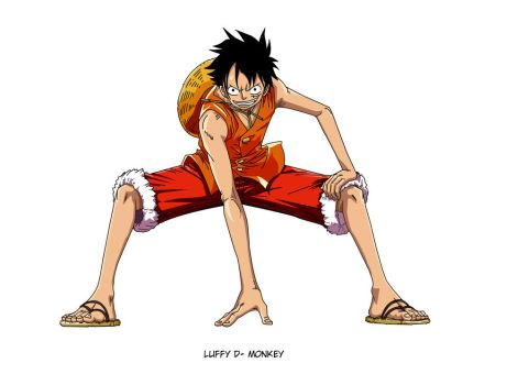 Luffy One Piece Lineart coloreo by Saiyo by Saiyo82