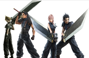 the 4 buster sword users by Redchampiontrainer01