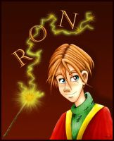 -Ron Weasley in colours- by lizzzy-art