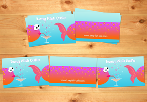 "Business card ""Long Fish Cafe"" by oxanaart"