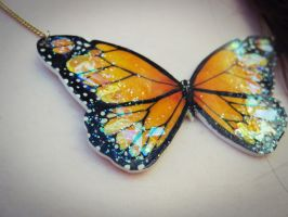 Orange Butterfly - Detail by BenjiiBen