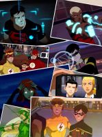 Young Justice collage by Jeageractive