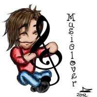 Musiclover 2012 colored by JadeTheAngle777