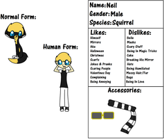 Neil Ref Sheet by PiperMagician