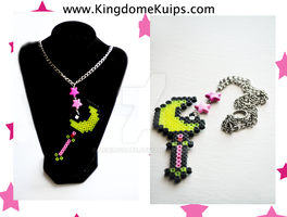 Sailor Moon Crescent Wand Necklace by denimcraze