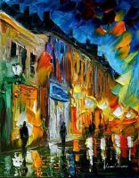Memory flames by Leonid Afremov by Leonidafremov