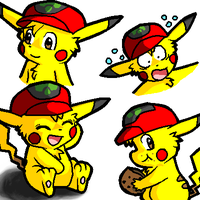 Ash Doodles in Oekaki by Coshi-Dragonite