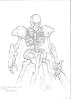Sketches - Skeleton Warrior by jack0001