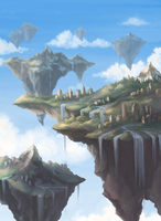 Islands in the Sky by Petrichora